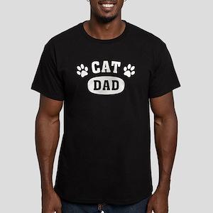 Cat Dad [b/w] Men's Fitted T-Shirt (dark)